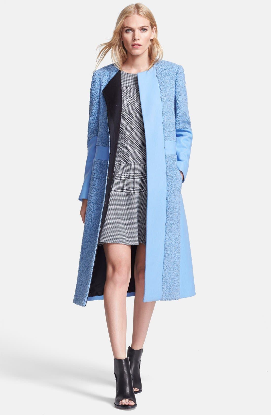Main Image - Tibi 'Panda' Wool Blend Coat