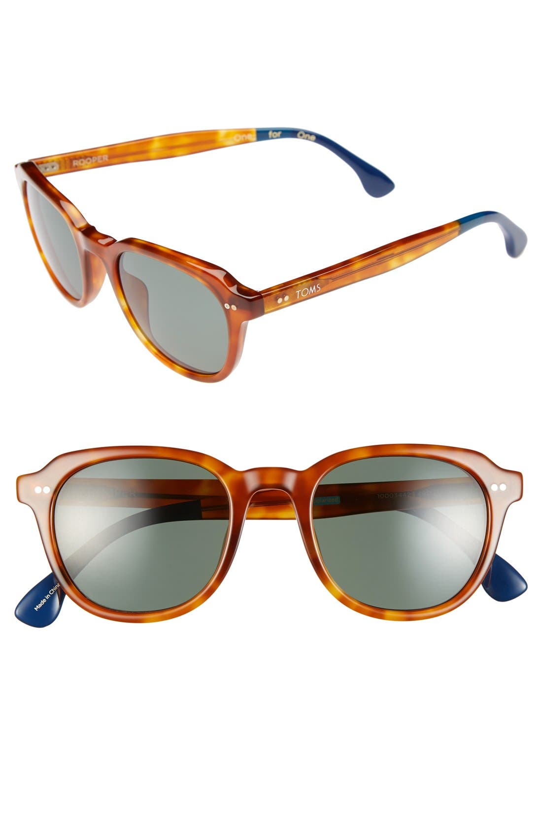 Main Image - TOMS 'Rooper' 49mm Polarized Sunglasses