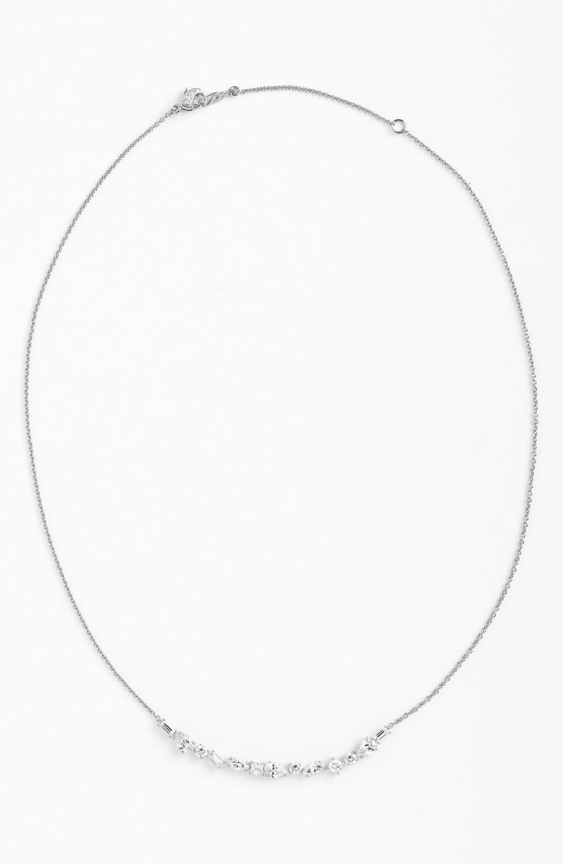 Alternate Image 2  - Nadri Mixed Cut Crescent Necklace (Nordstrom Exclusive)