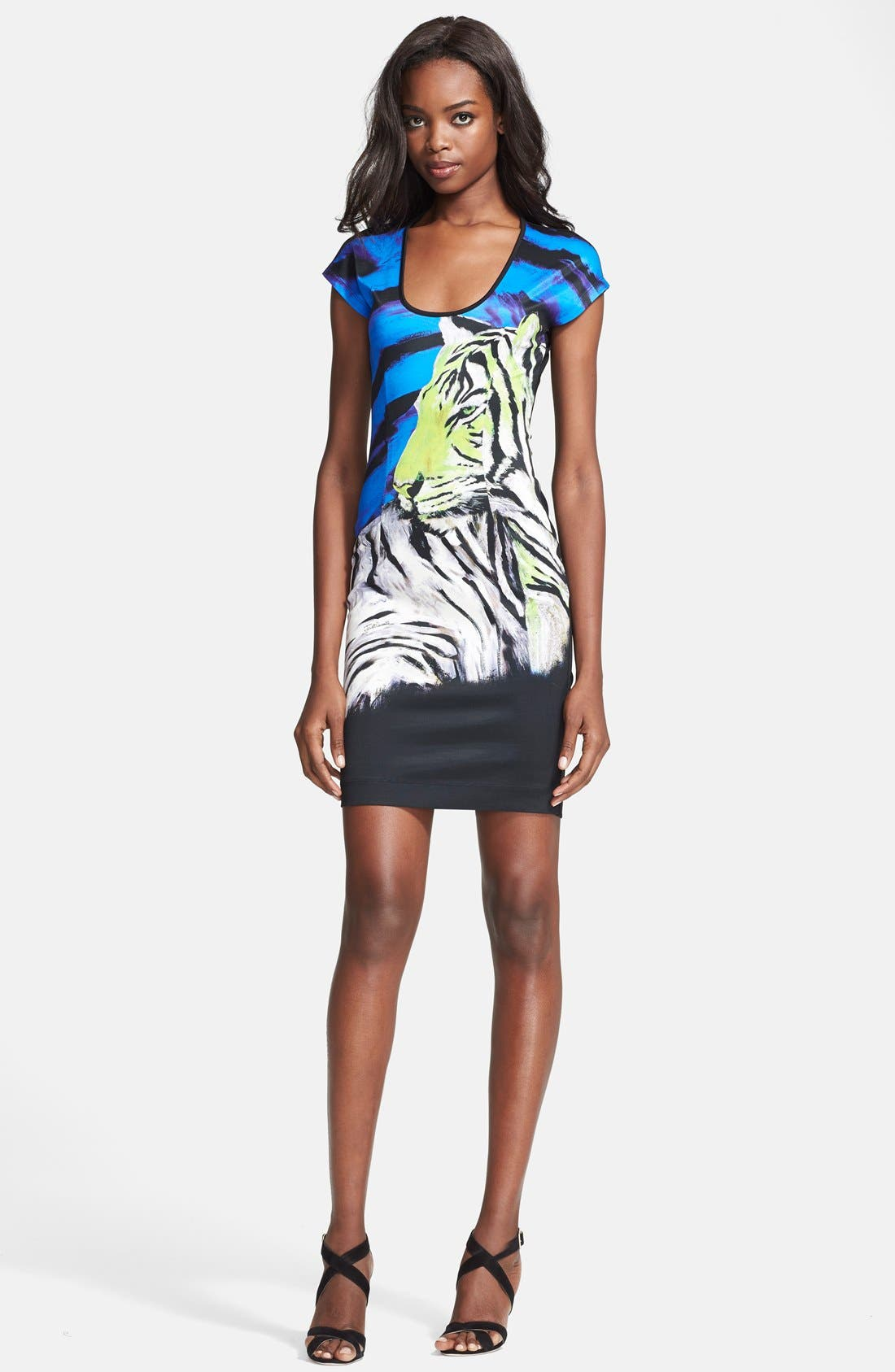 Alternate Image 1 Selected - Just Cavalli Print Jersey Dress
