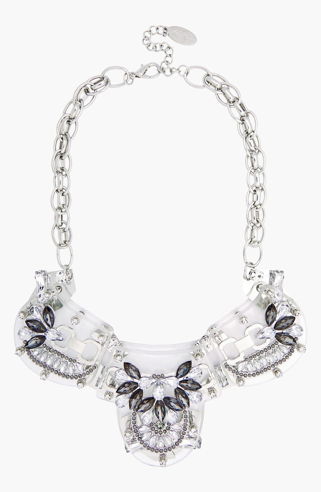 Alternate Image 1 Selected - Adia Kibur Crystal & Stone Flower Necklace