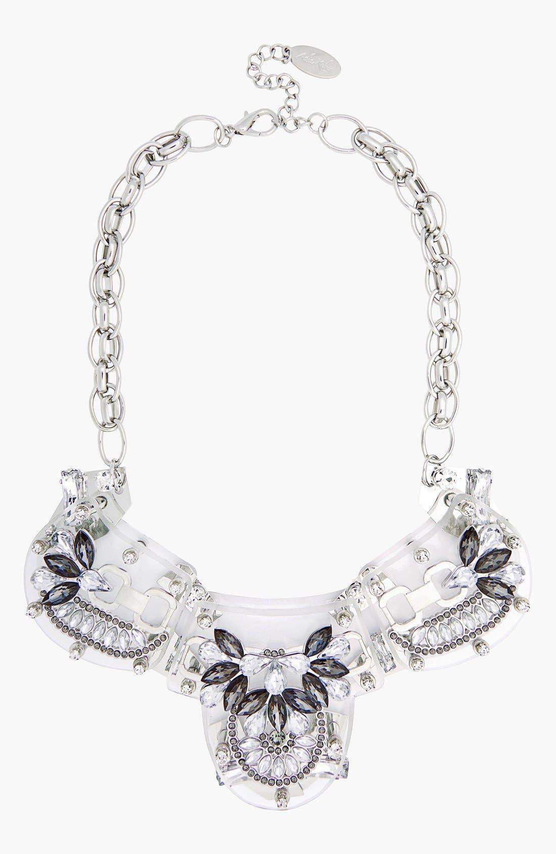 Main Image - Adia Kibur Crystal & Stone Flower Necklace