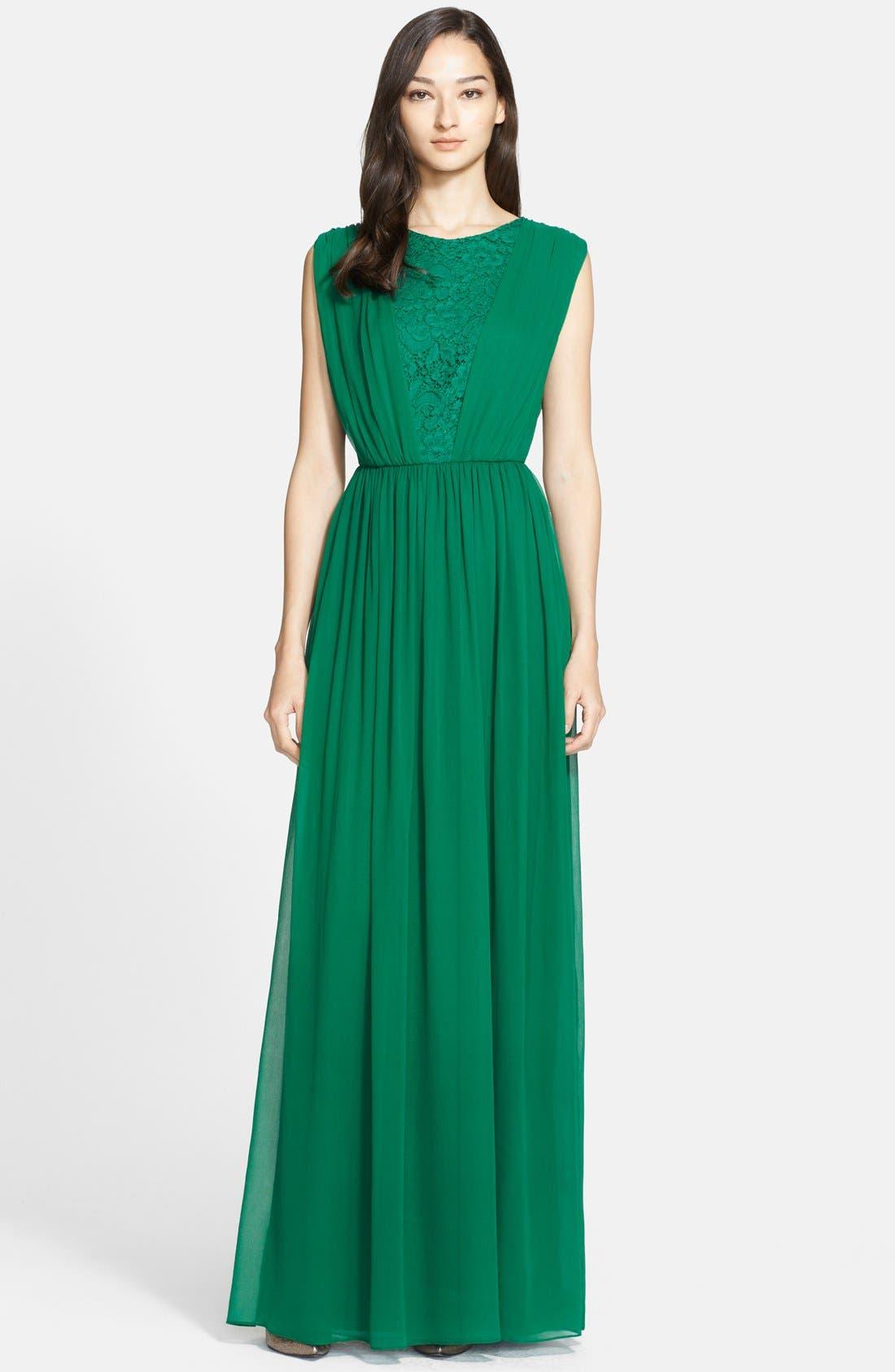 Main Image - St. John Collection Silk Chiffon Gown