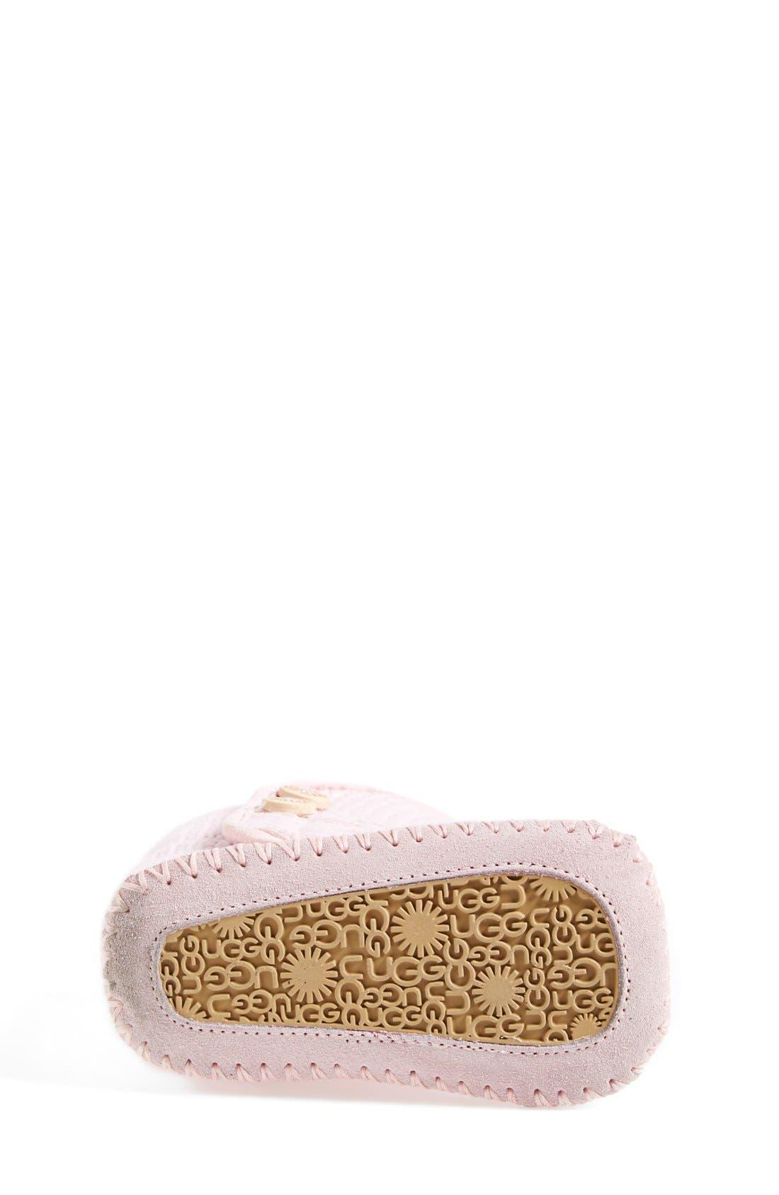 Alternate Image 4  - UGG® Purl Knit Bootie (Baby & Walker)