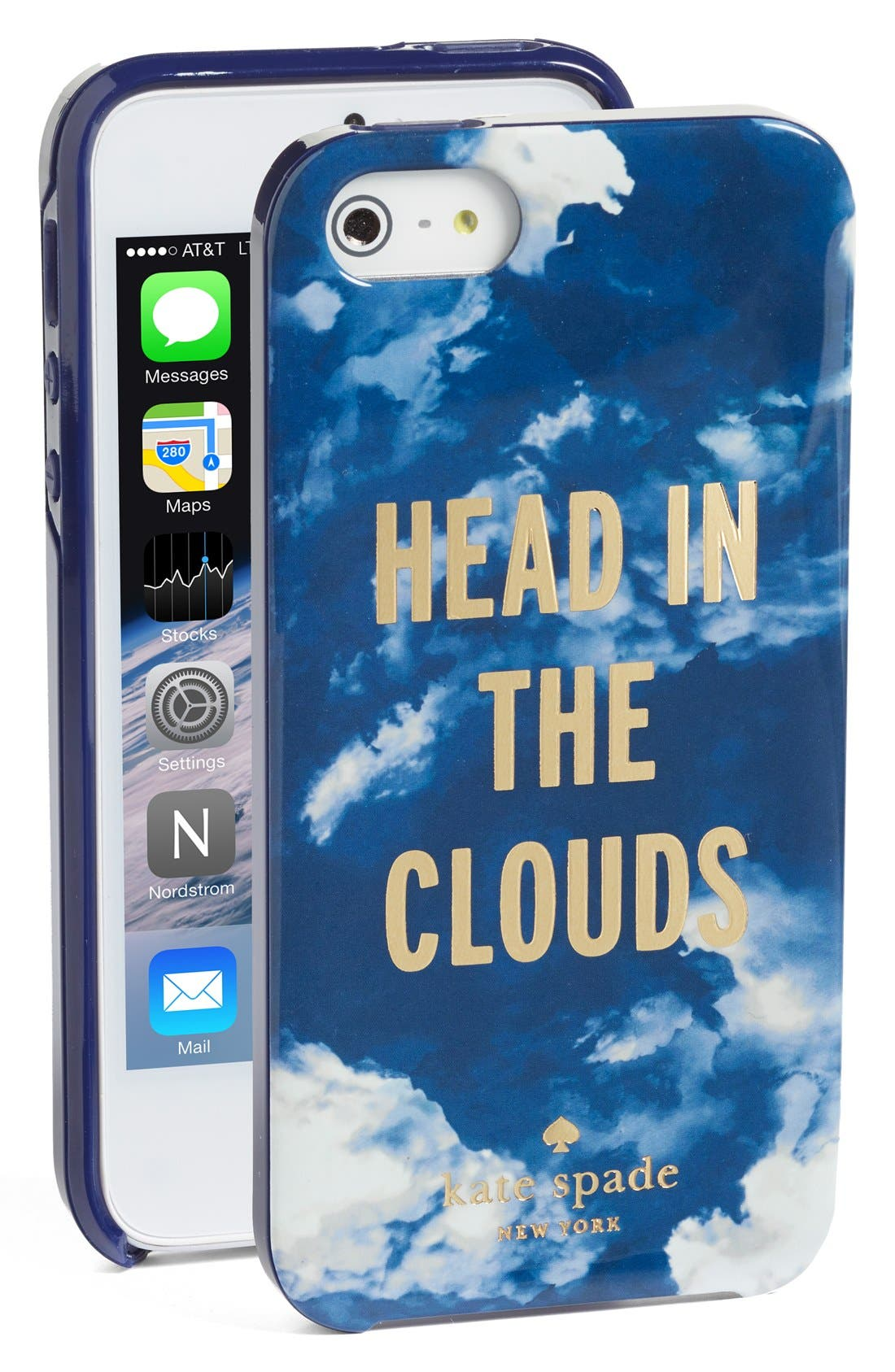 Alternate Image 1 Selected - kate spade new york 'head in the clouds' iPhone 5 & 5s case