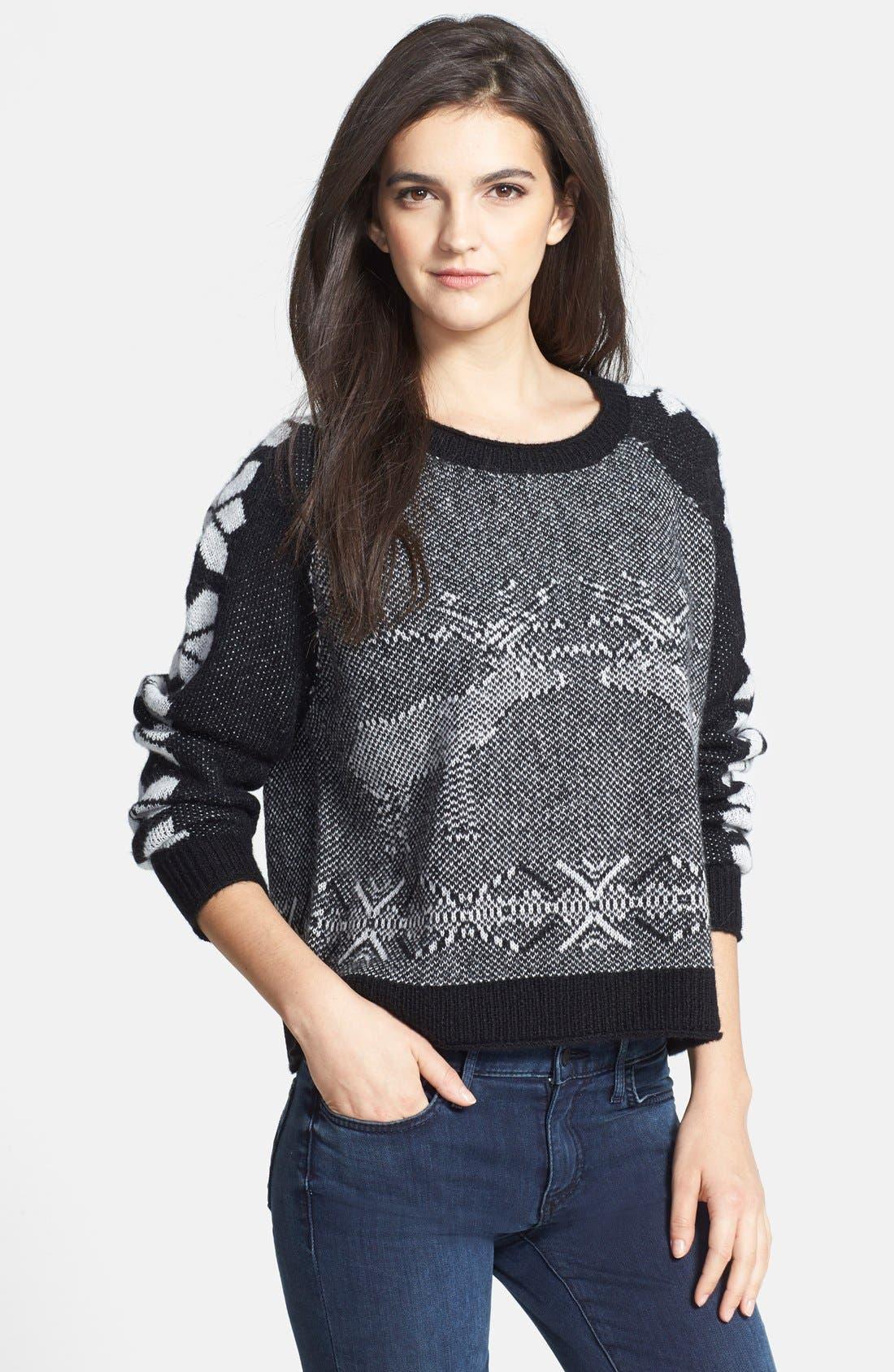 Alternate Image 1 Selected - Hinge Intarsia Seasonal Sweater