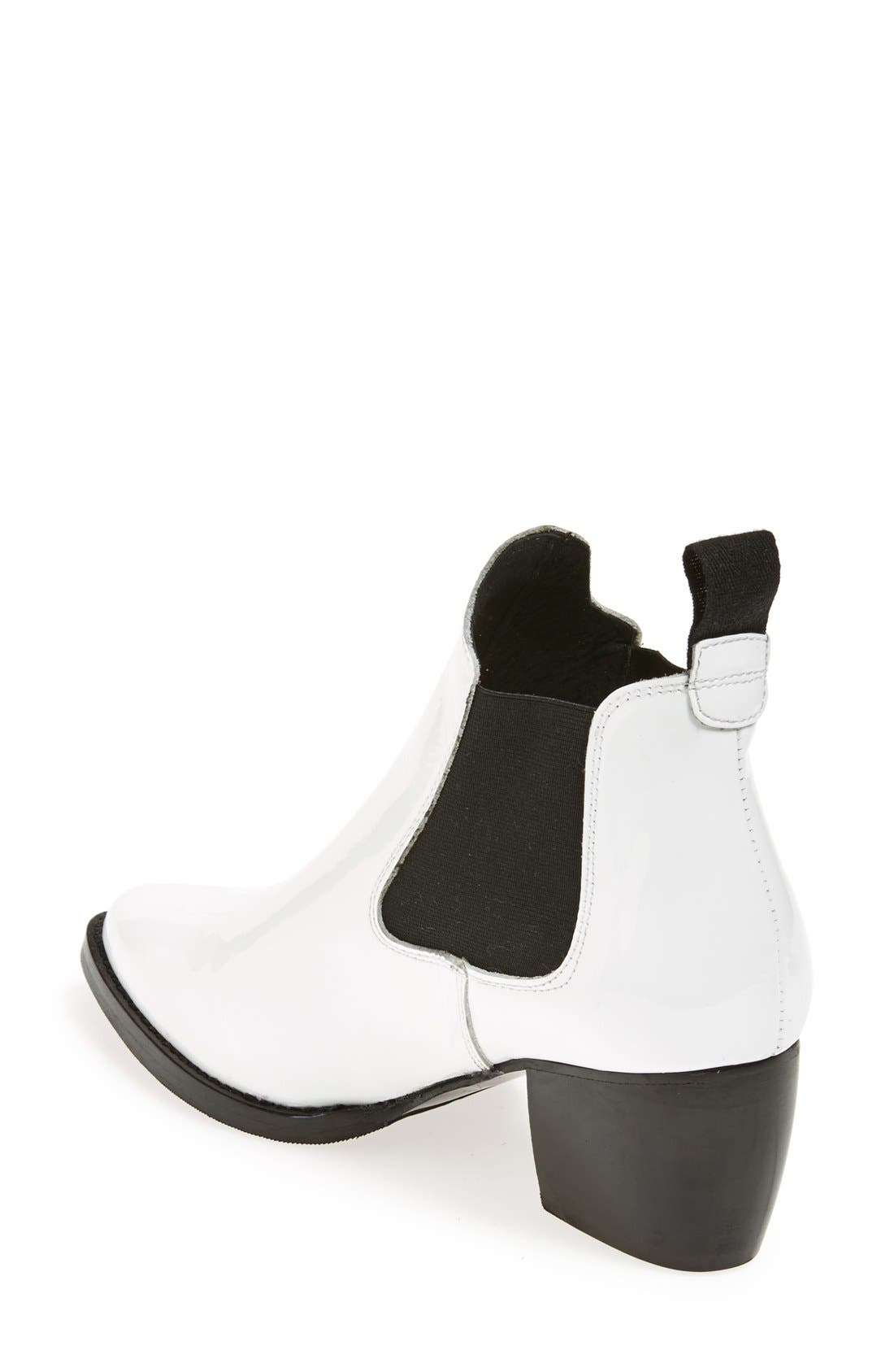 Alternate Image 2  - Topshop 'Margot' Leather Ankle Bootie (Women)