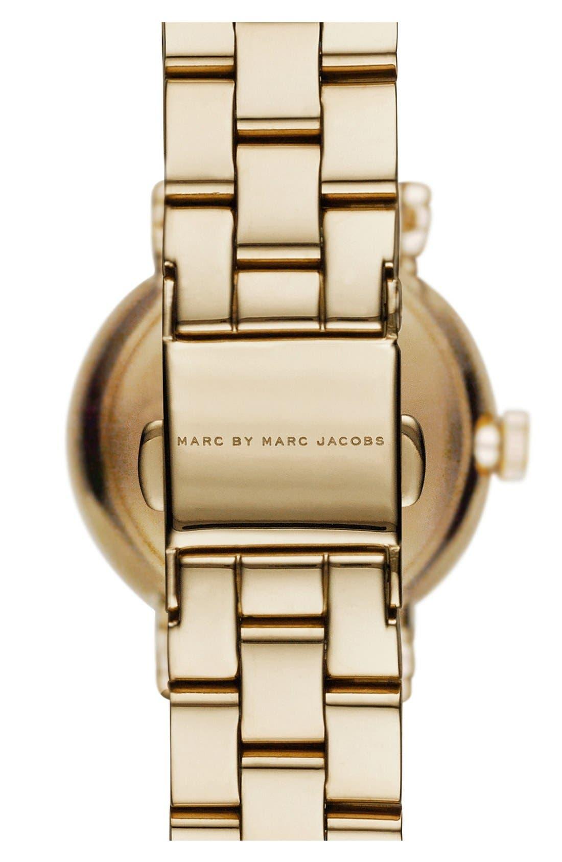 Alternate Image 2  - MARC BY MARC JACOBS 'Henry' Crystal Bezel Bracelet Watch, 40mm