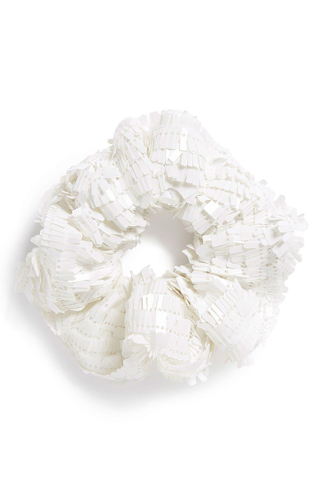 Main Image - Topshop Sequin Scrunchie