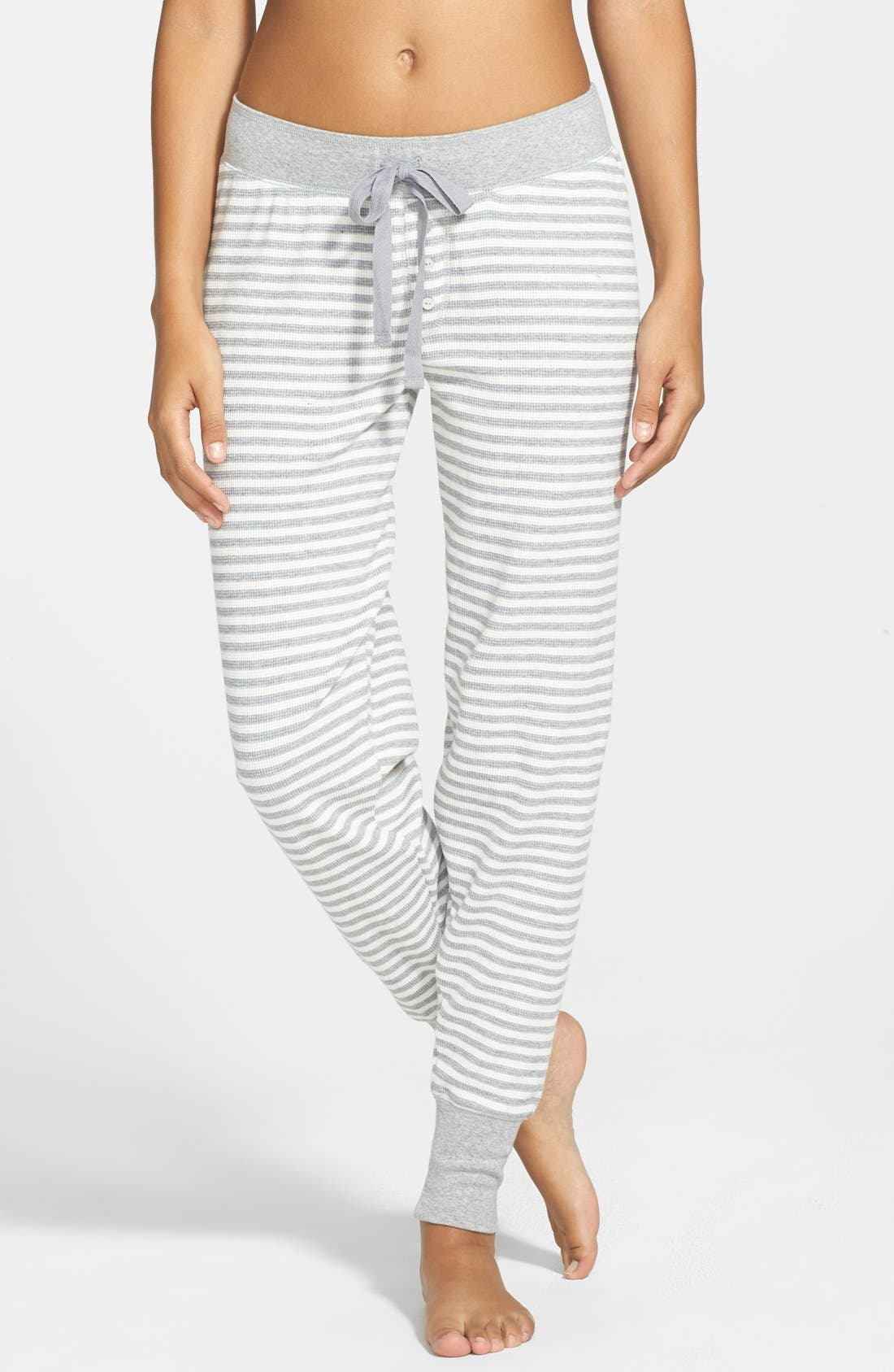Alternate Image 1 Selected - PJ Salvage 'Home' Stripe Thermal Jogger Pants