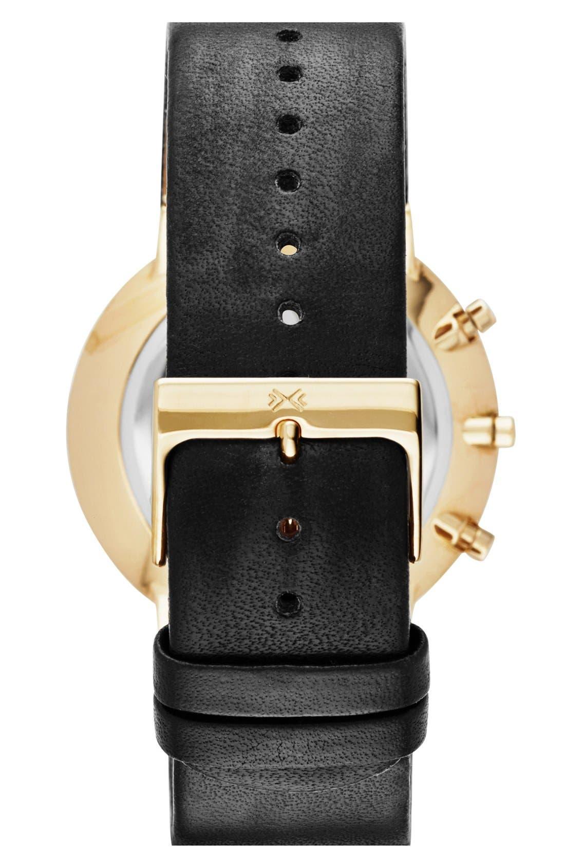 Alternate Image 2  - Skagen 'Ancher' Chronograph Leather Strap Watch, 40mm
