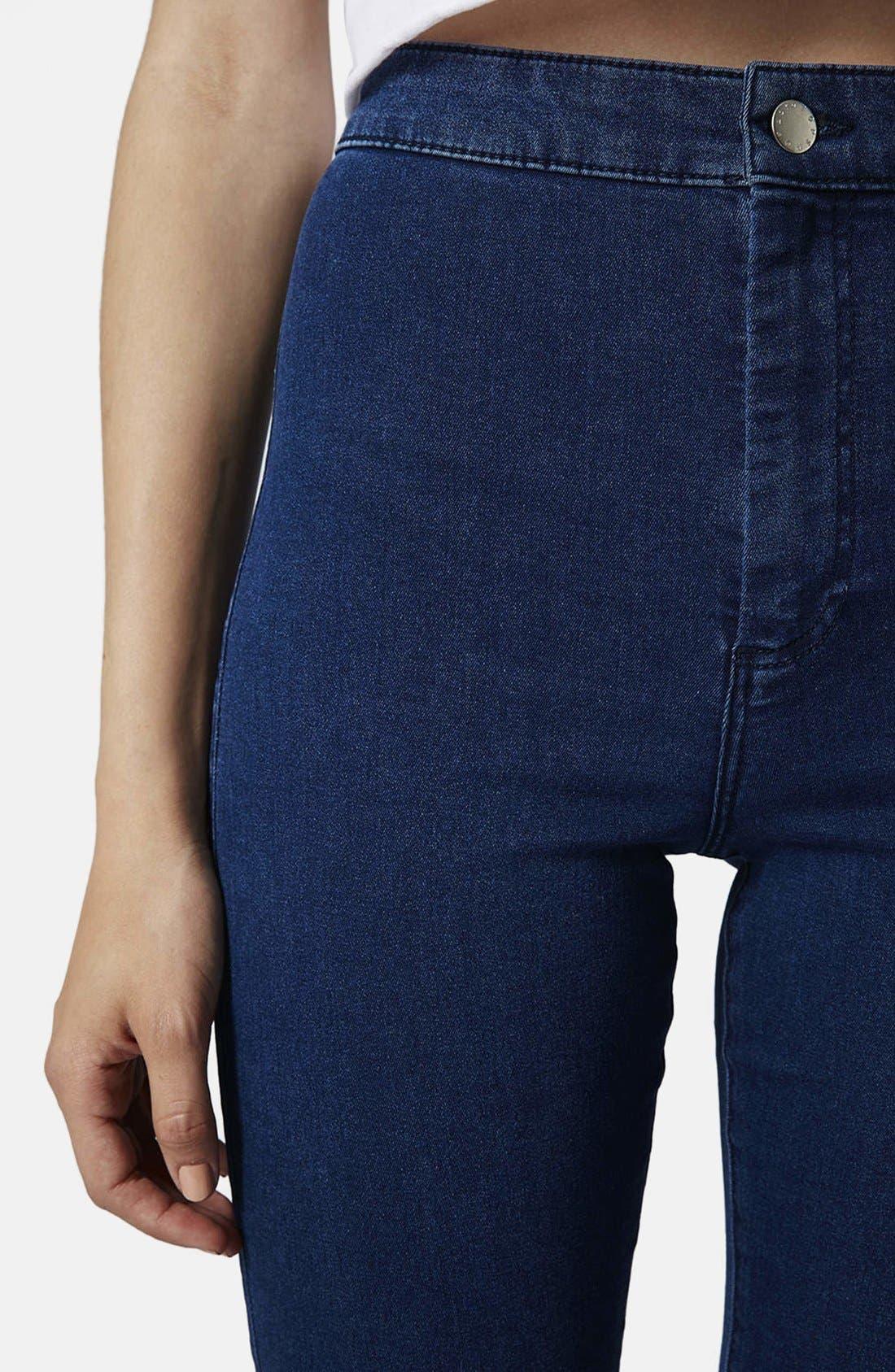 Alternate Image 4  - Topshop Moto 'Joni' Skinny Jeans (Dark Stone) (Short)