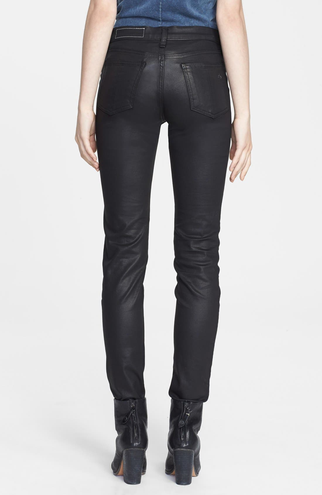 Alternate Image 2  - rag & bone/JEAN 'The Danny' Coated Leggings