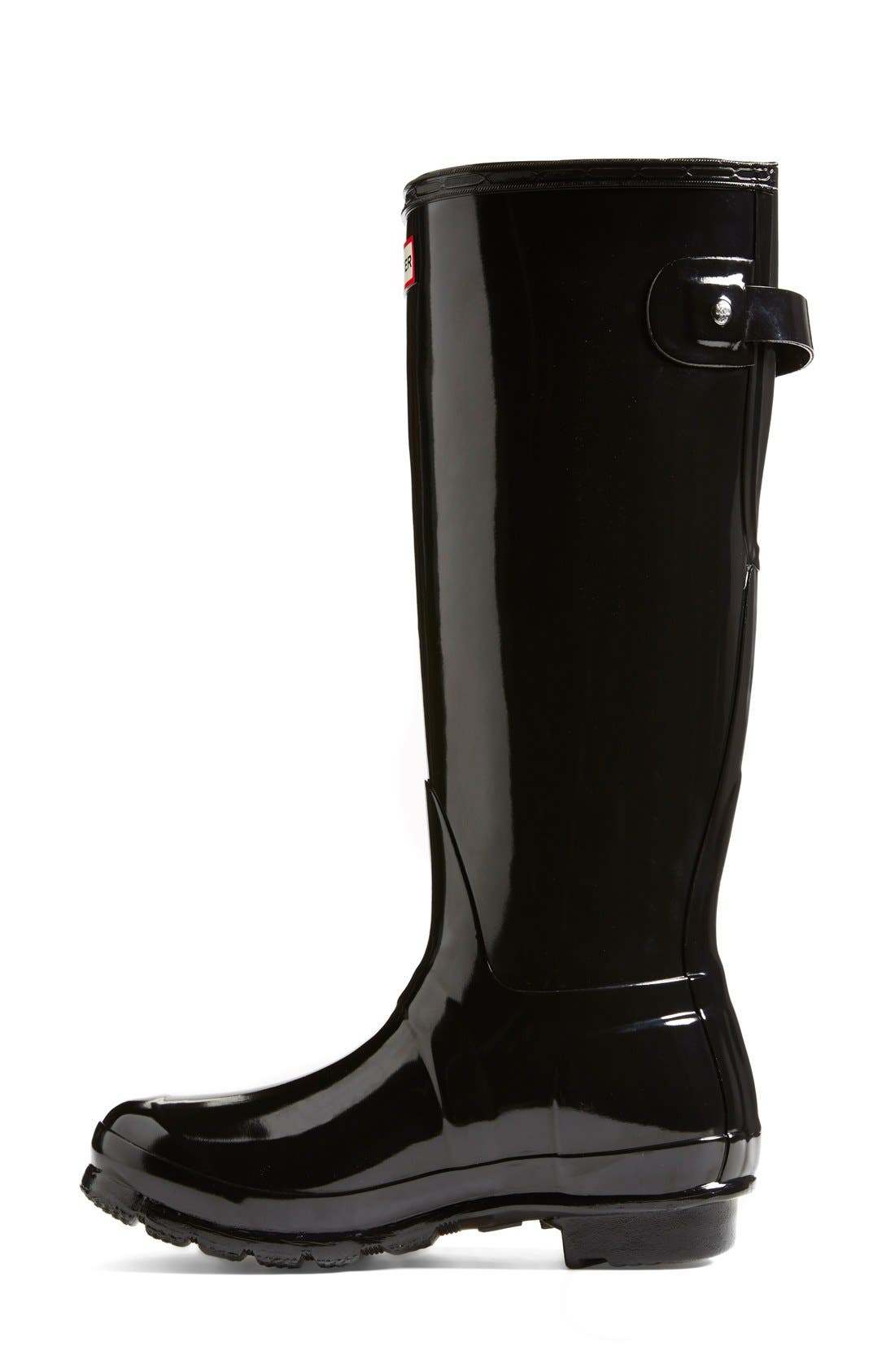 Hunter Adjustable Back Gloss Rain Boot (Women) | Nordstrom