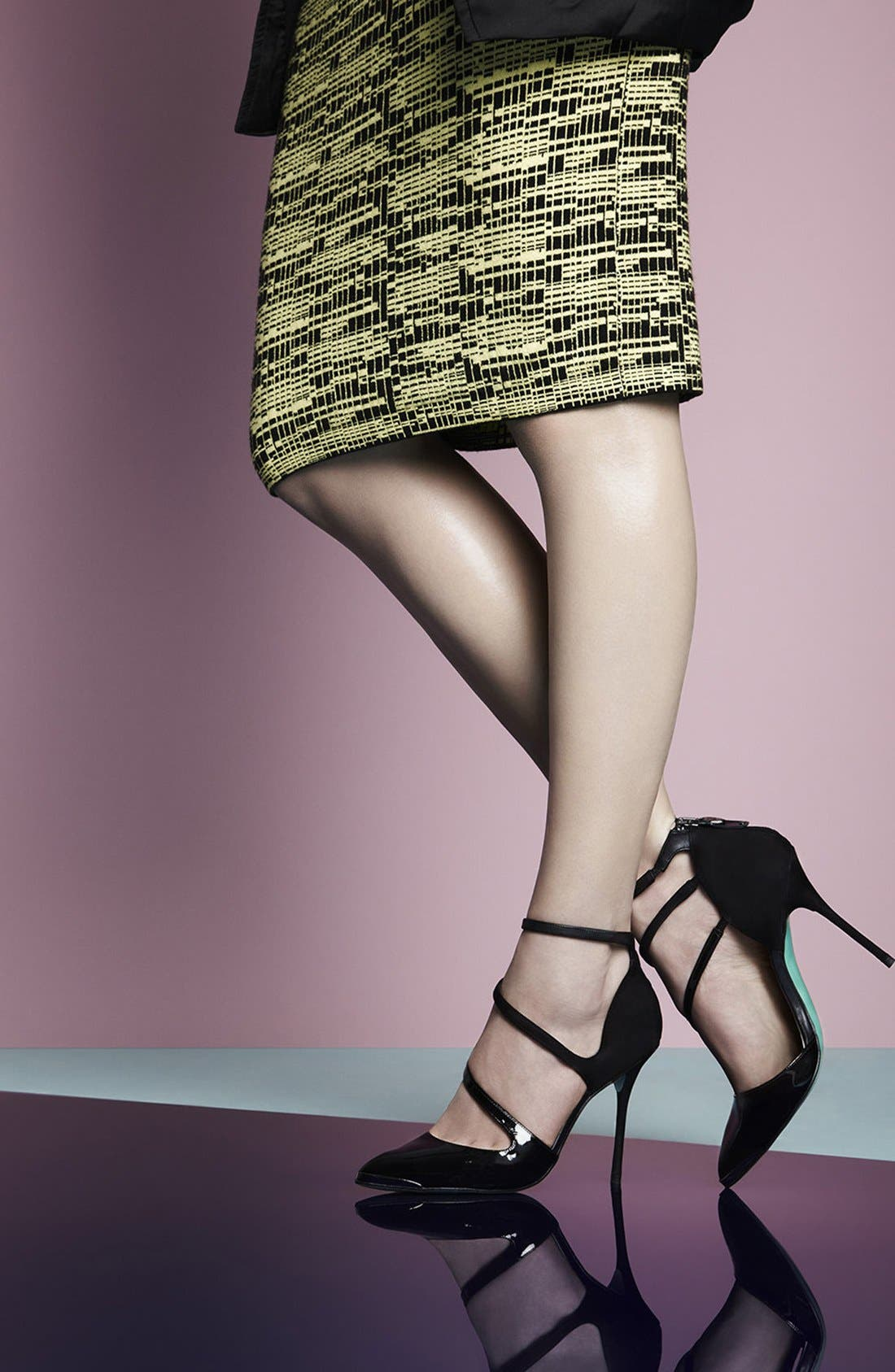 Alternate Image 6  - Topshop by CJG 'Up All Night Point' Suede & Leather Pointy Toe Pump (Women)