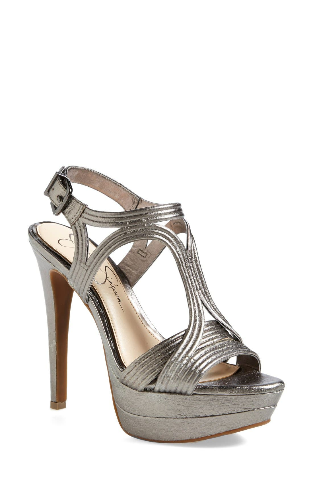 Alternate Image 1 Selected - Jessica Simpson 'Salemm' Platform Sandal (Women)