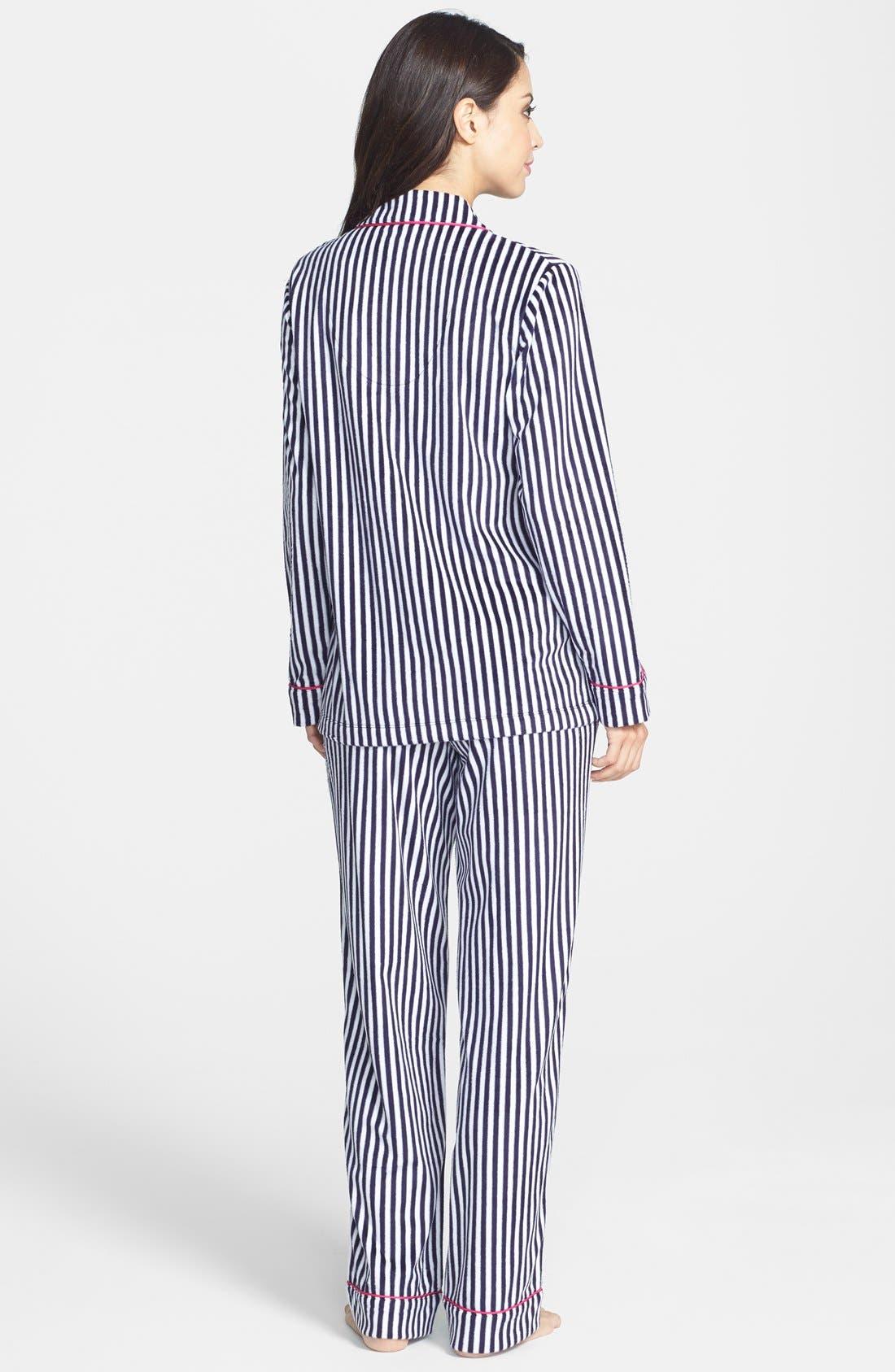 Alternate Image 2  - DKNY Long Sleeve Microfleece Pajamas