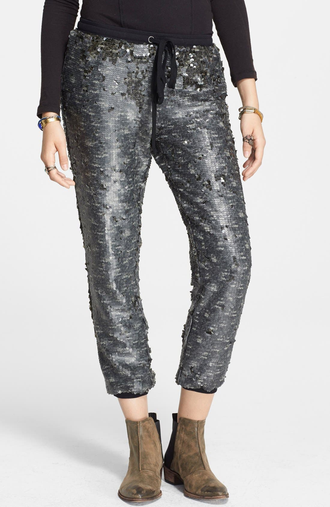 Main Image - Free People Sequin Jogger Pants