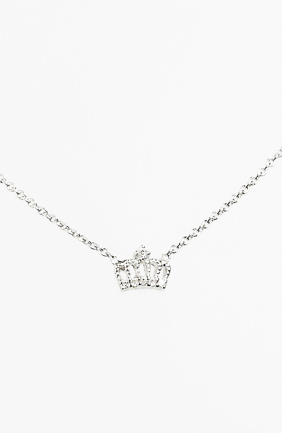 Alternate Image 3  - Sugar Bean Jewelry Crown Pendant Necklace