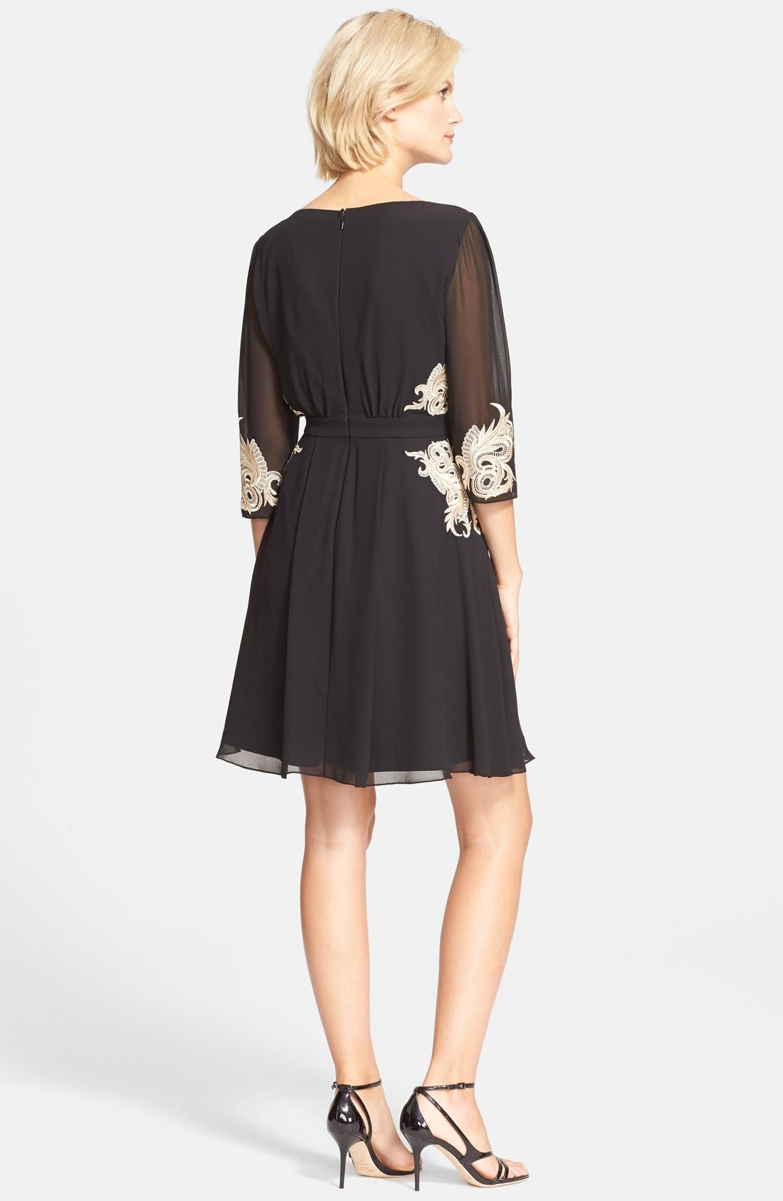 Alternate Image 2  - Ted Baker London 'Gaenor' Embroidered Fit & Flare Dress