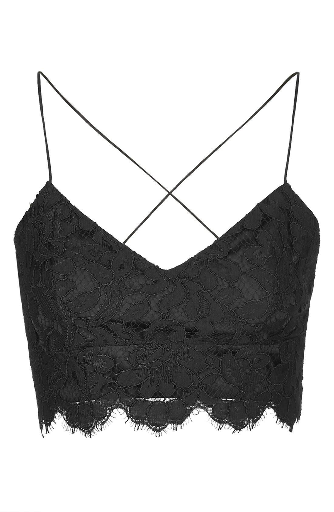 Alternate Image 3  - Topshop Strap Lace Bralette