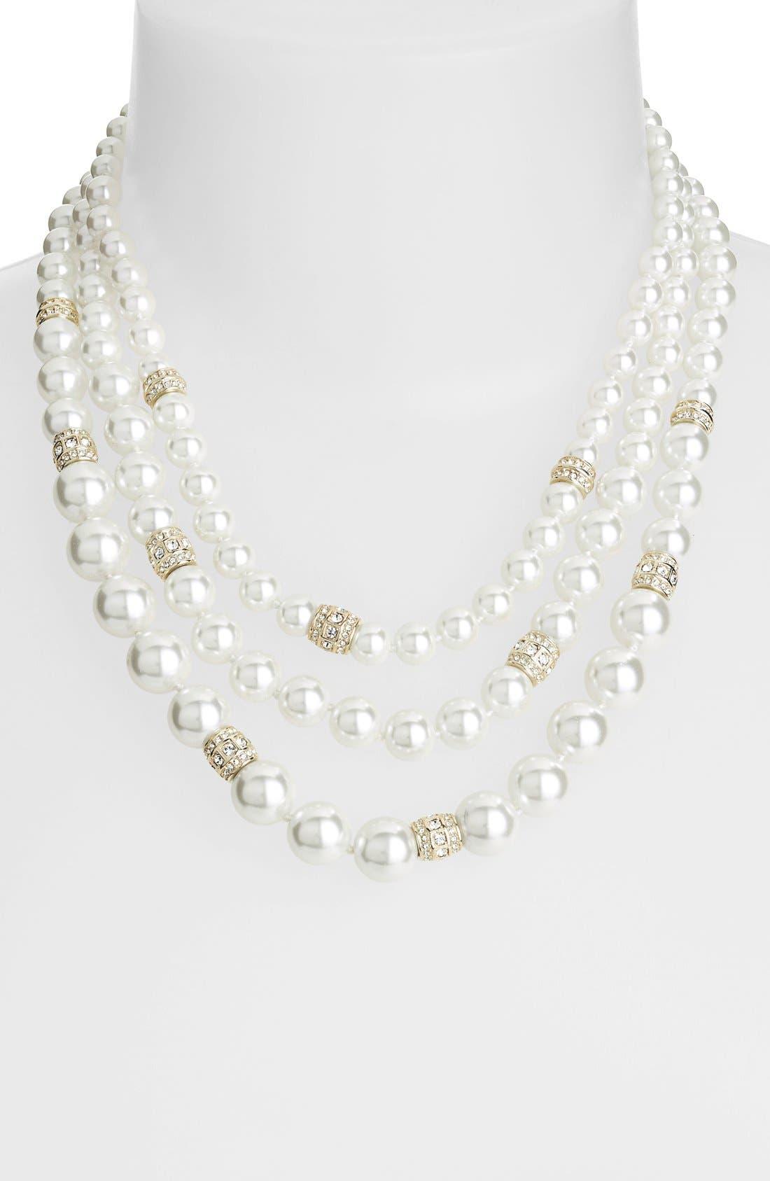 Main Image - Judith Jack 'Gala' Three-Row Faux Pearl Necklace