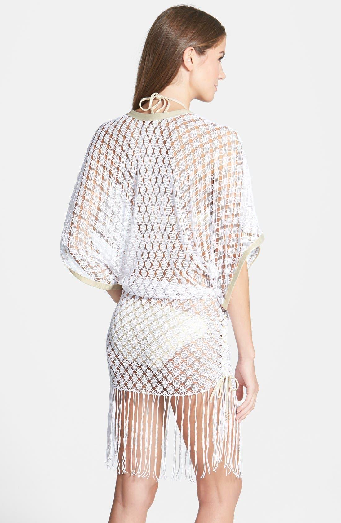 Alternate Image 2  - Luli Fama 'South Beach' Crochet Cover-Up Dress