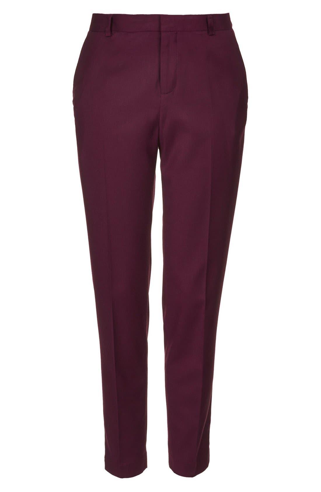 Alternate Image 4  - Topshop Premium Suit Trousers