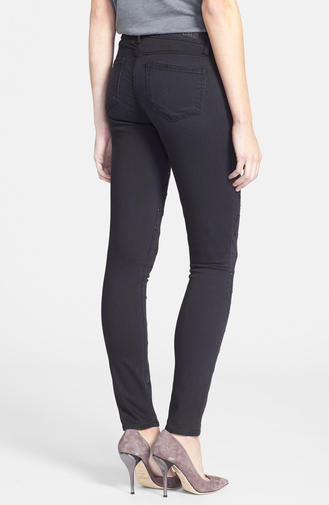 Alternate Image 2  - Paige Denim 'Verdugo' Ultra Skinny Jeans (Cleo Embellished)