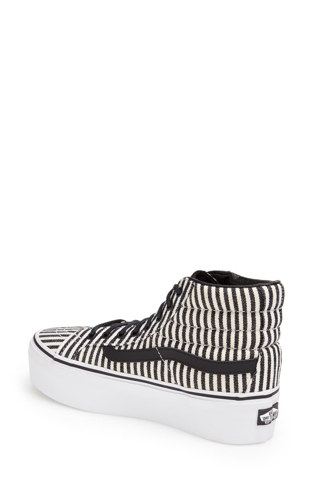Alternate Image 2  - Vans 'Hickory Stripes Sk8-Hi Platform' Sneaker (Women)