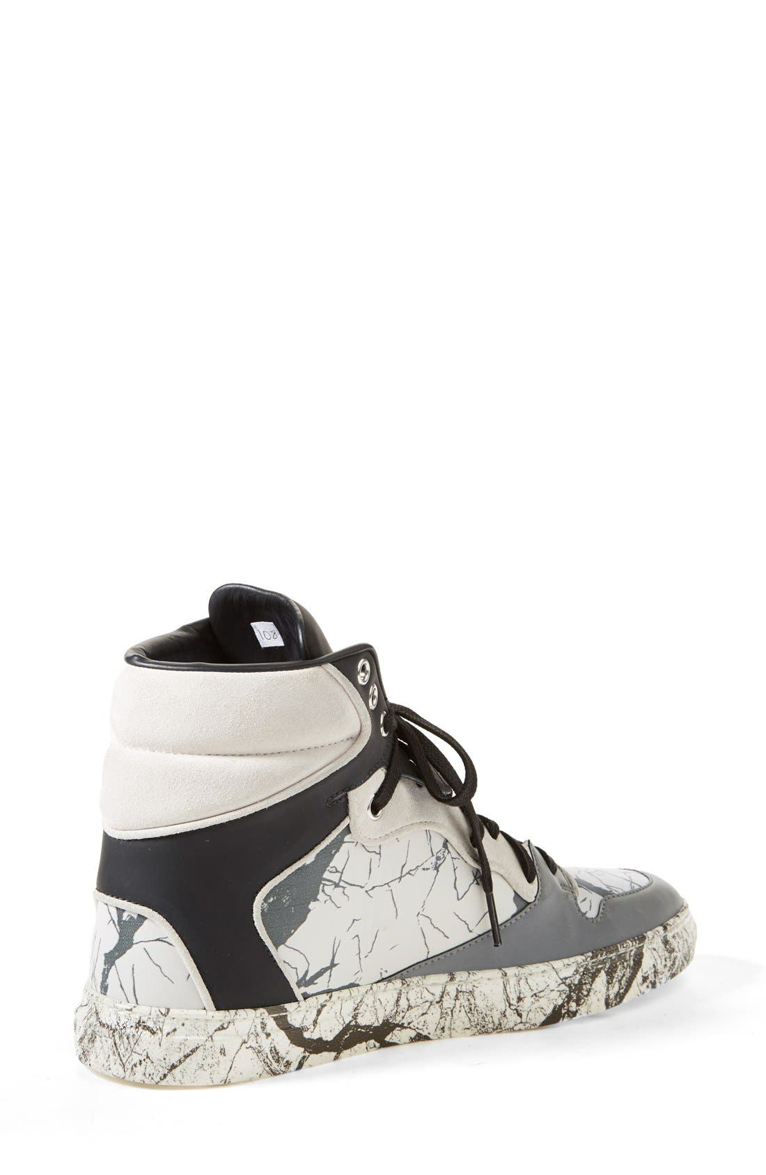 Alternate Image 2  - Balenciaga Nappa Leather High Top Sneaker (Women)