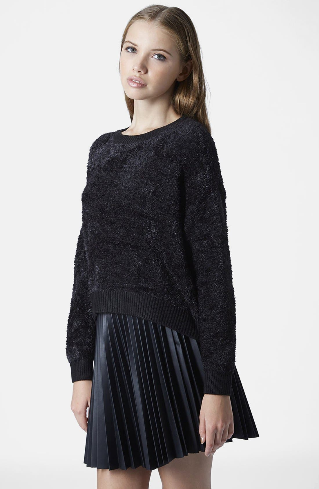 Main Image - Topshop Fluffy Pullover Sweater