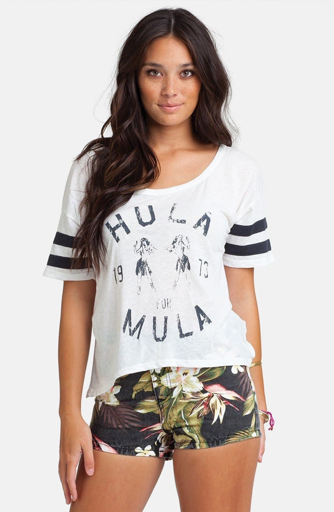 Alternate Image 1 Selected - Billabong 'Hula Time' Graphic Crop Tee