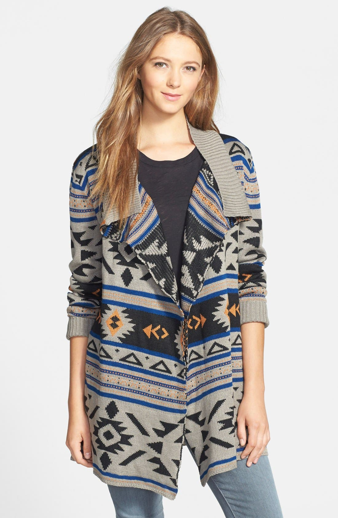 Alternate Image 1 Selected - Bobeau Aztec Print Cardigan