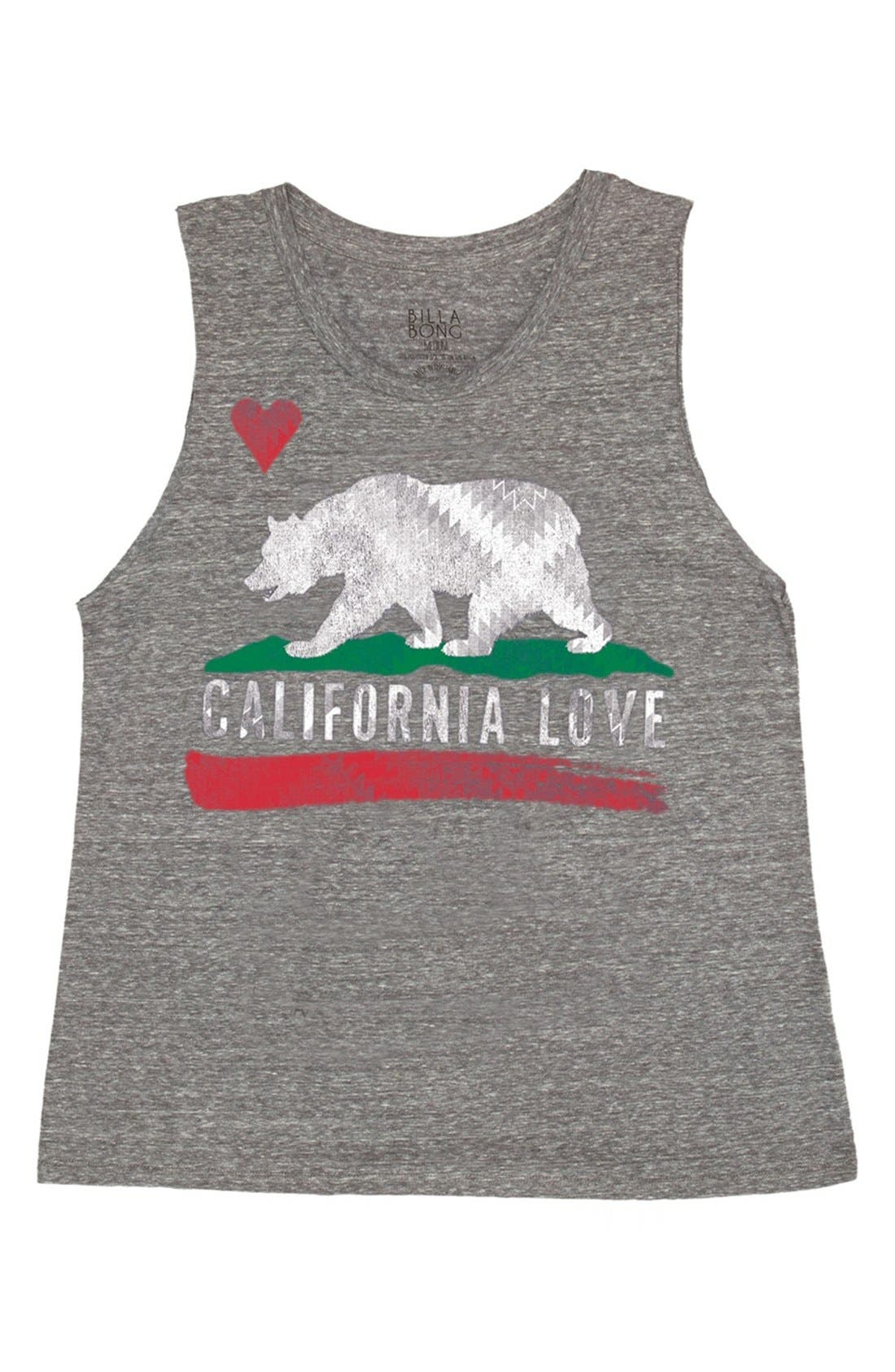 Alternate Image 1 Selected - Billabong 'Bears Republic' Graphic Muscle Tee