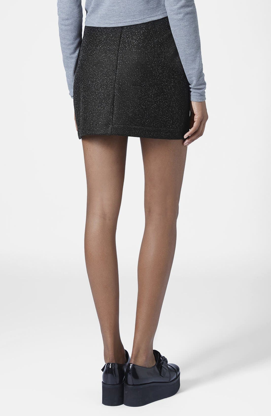 Alternate Image 2  - Topshop Tinsel Wrap Miniskirt