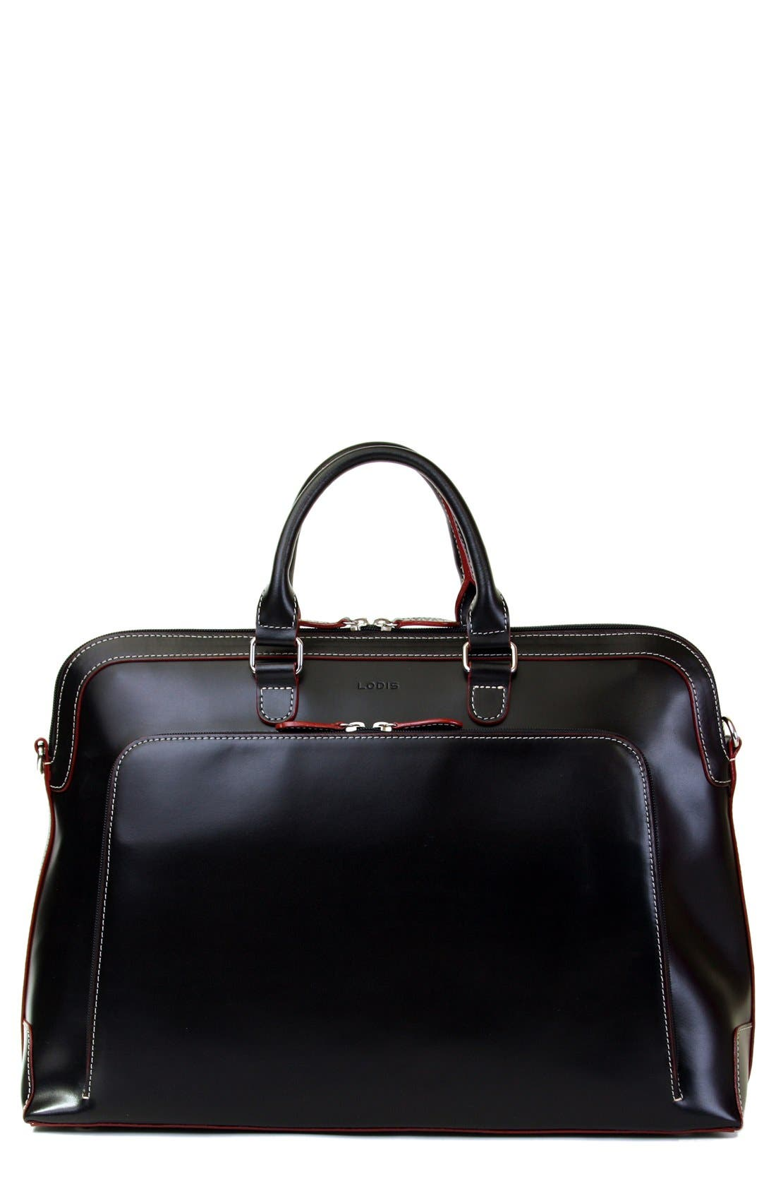LODIS 'Audrey Brera' Leather Briefcase