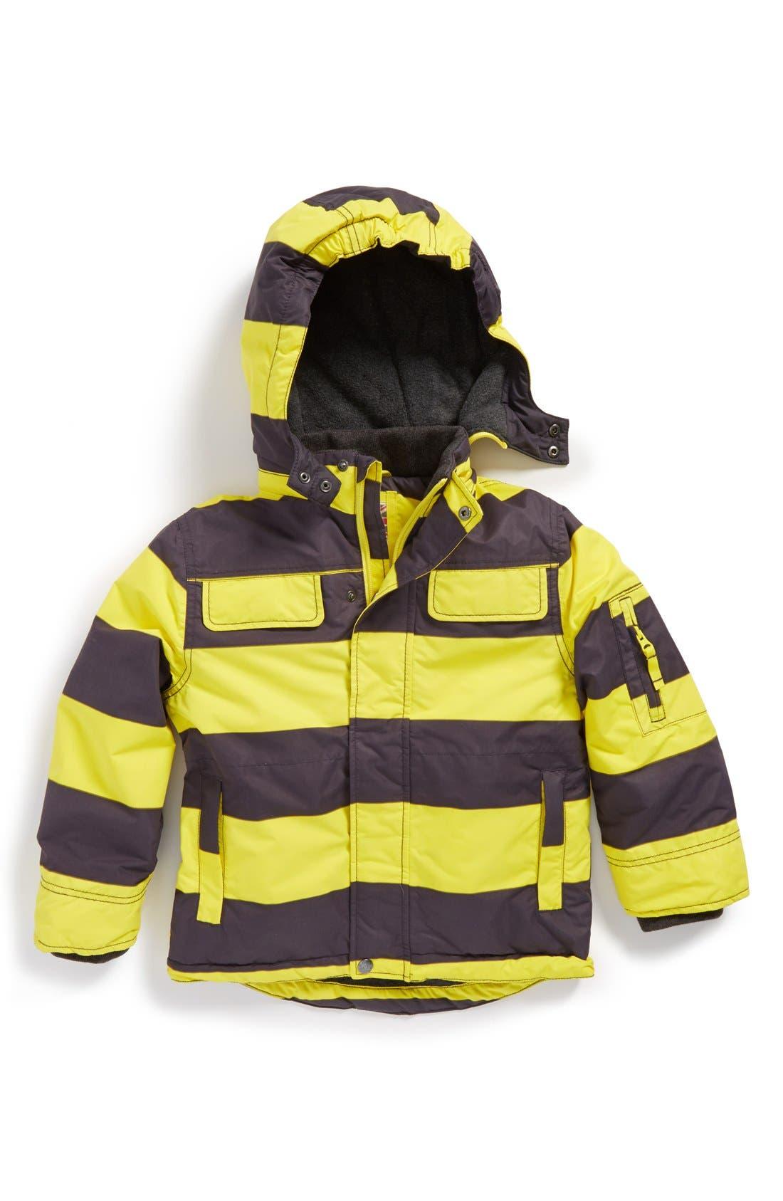 Alternate Image 1 Selected - Mini Boden 'Snowboard' Waterproof Jacket (Toddler Boys, Little Boys & Big Boys)