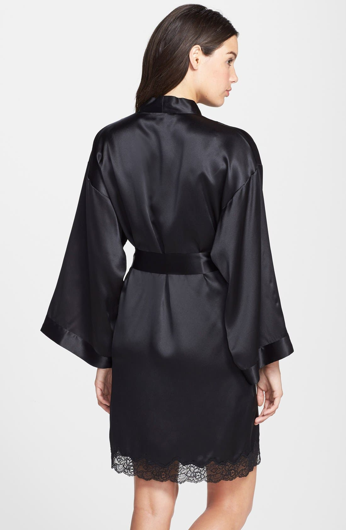 Alternate Image 2  - Nordstrom Collection 'Luxe' Silk Robe