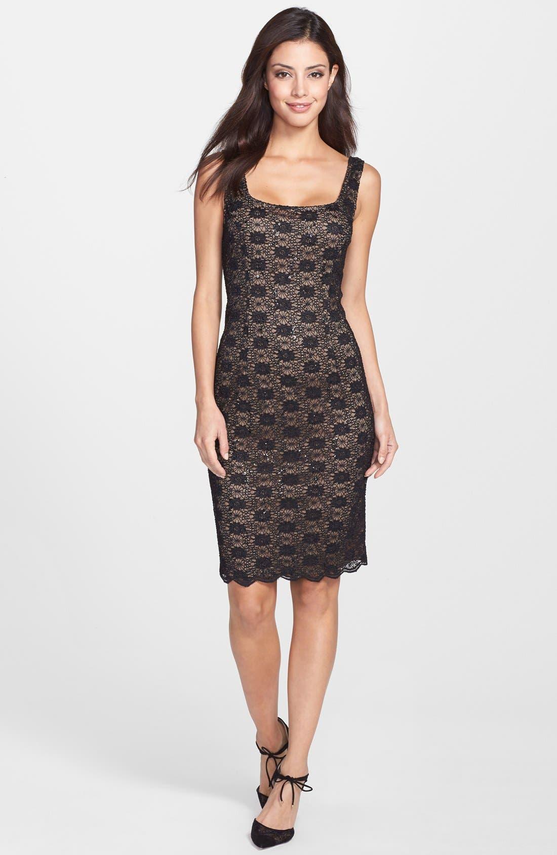 Alternate Image 3  - Alex Evenings Sequin Lace Sheath Dress & Bolero