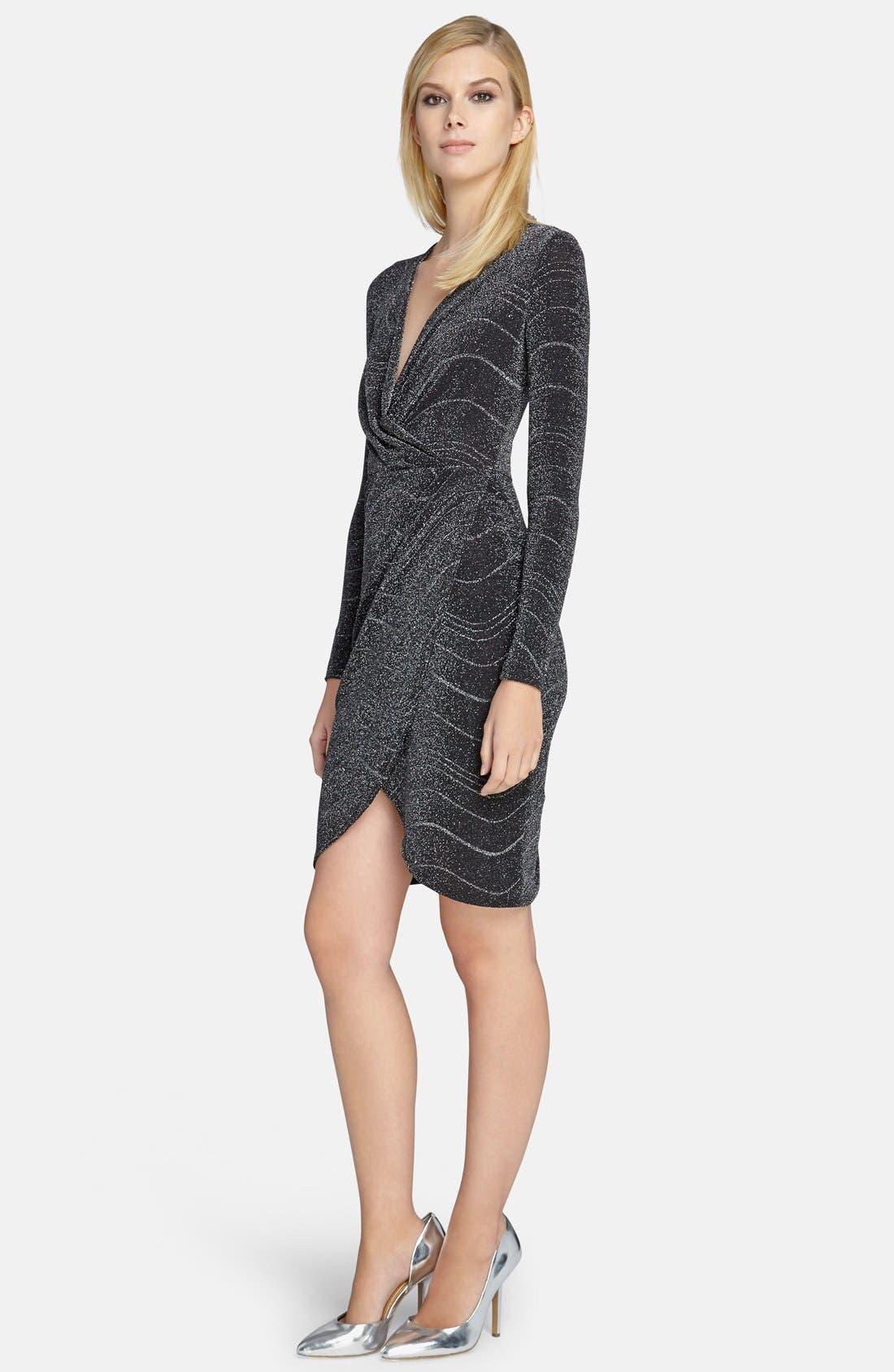 Alternate Image 1 Selected - Catherine Catherine Malandrino 'Marilyn' Metallic Kit Dress