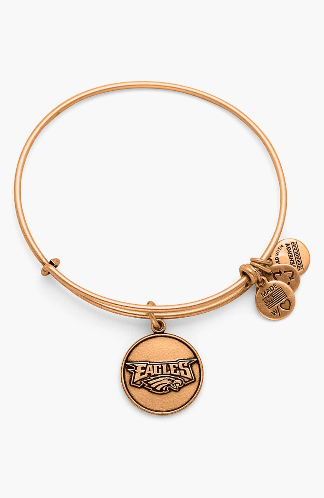 Alternate Image 1 Selected - Alex and Ani 'NFL - Philadelphia Eagles' Adjustable Wire Bracelet