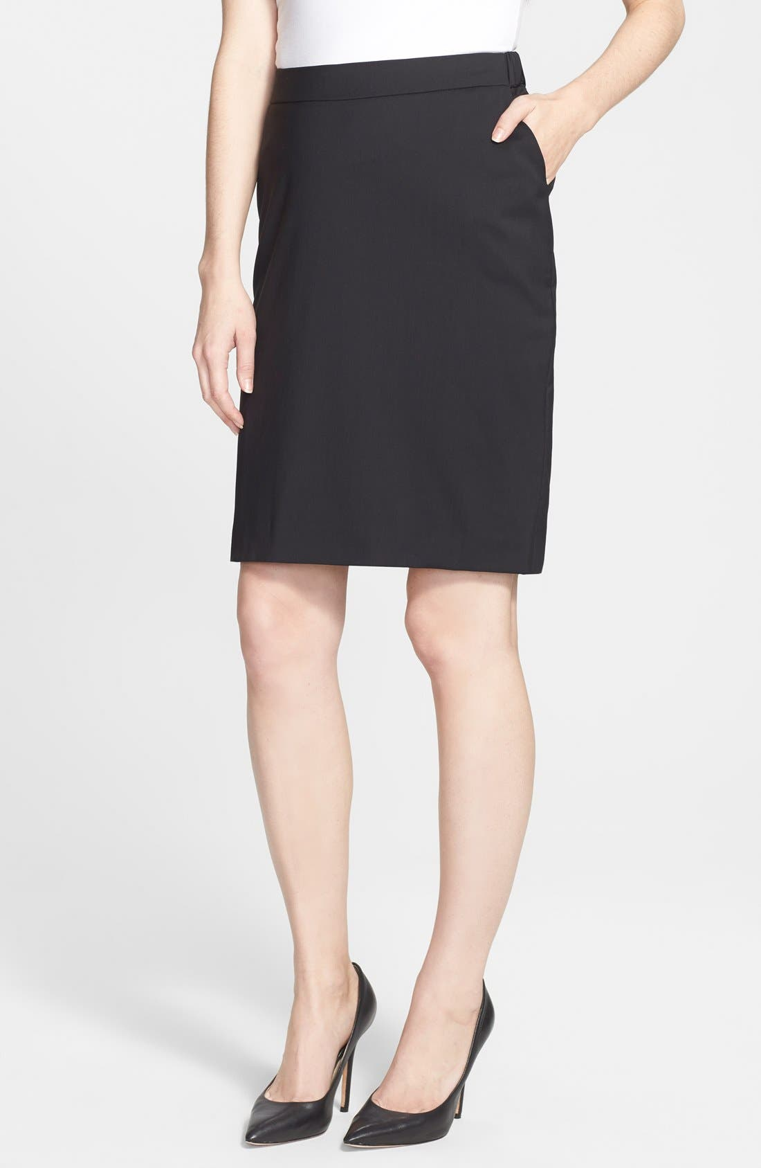 Alternate Image 1 Selected - Eva Alexander London Tailored Maternity Pencil Skirt