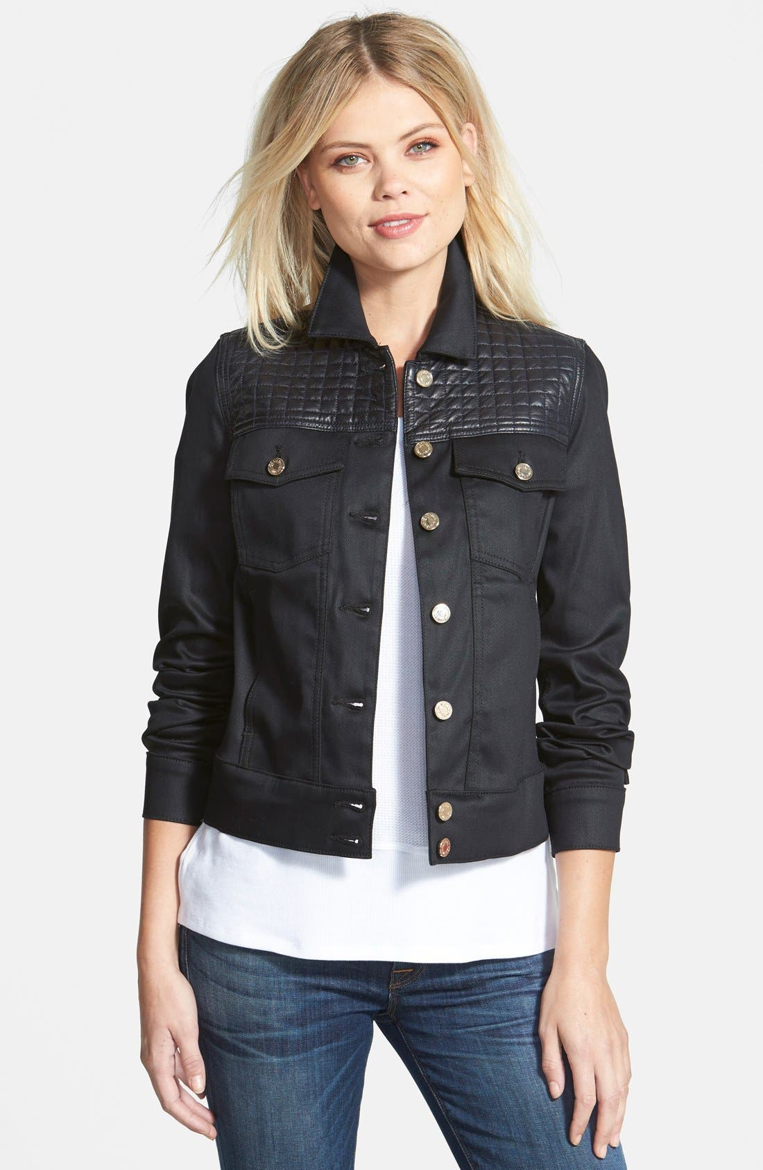 Main Image - 7 For All Mankind® Quilted Denim Jacket