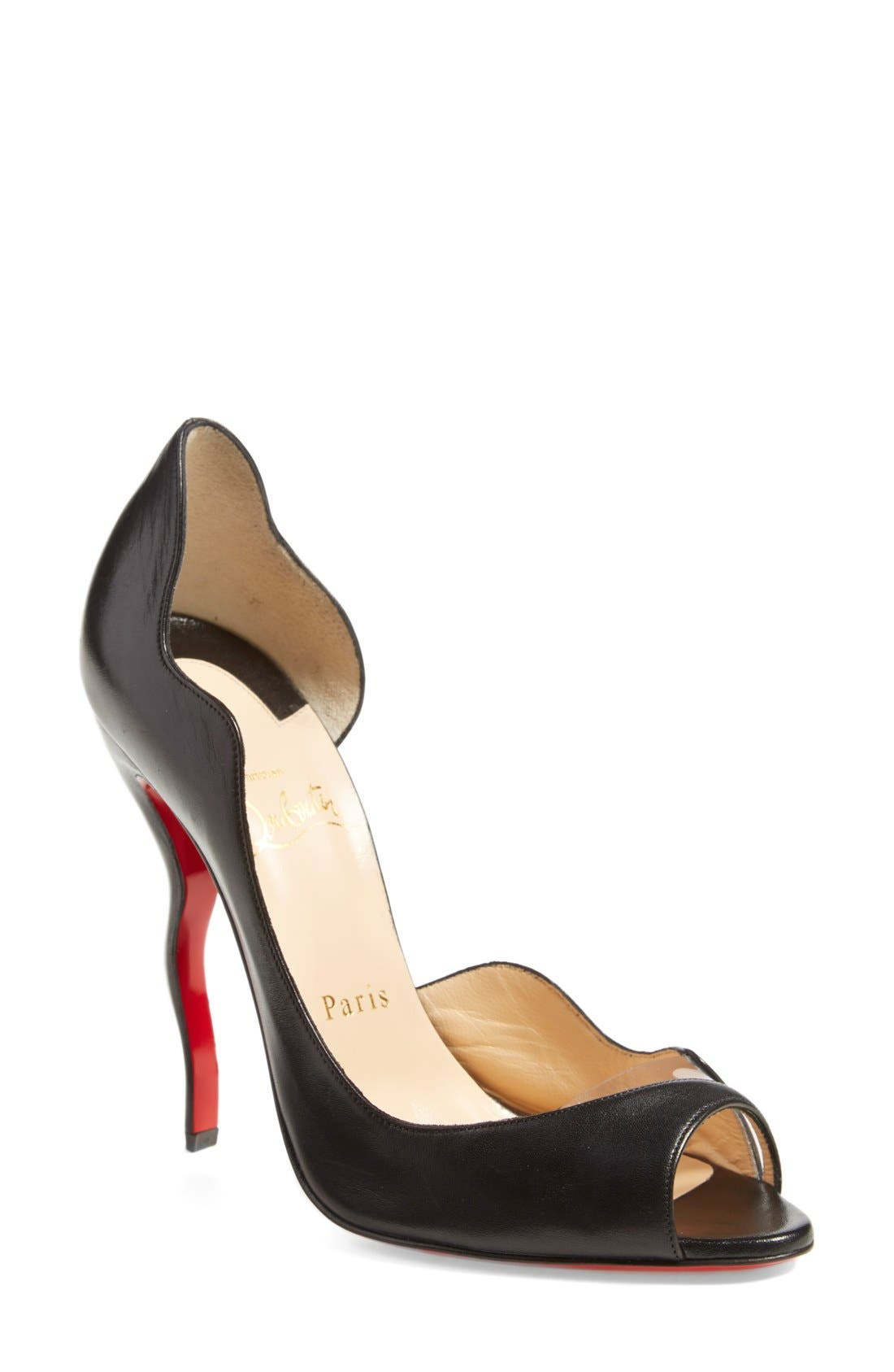 Alternate Image 1 Selected - Christian Louboutin 'Deepik' Half d'Orsay Pump