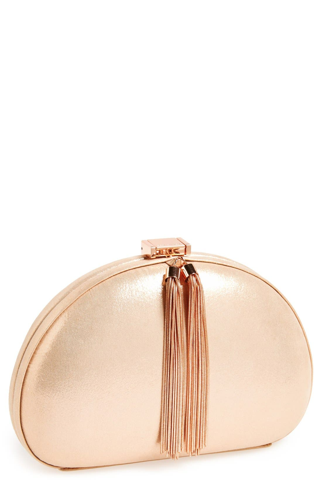 Main Image - Ted Baker London Rounded Tassel Clutch