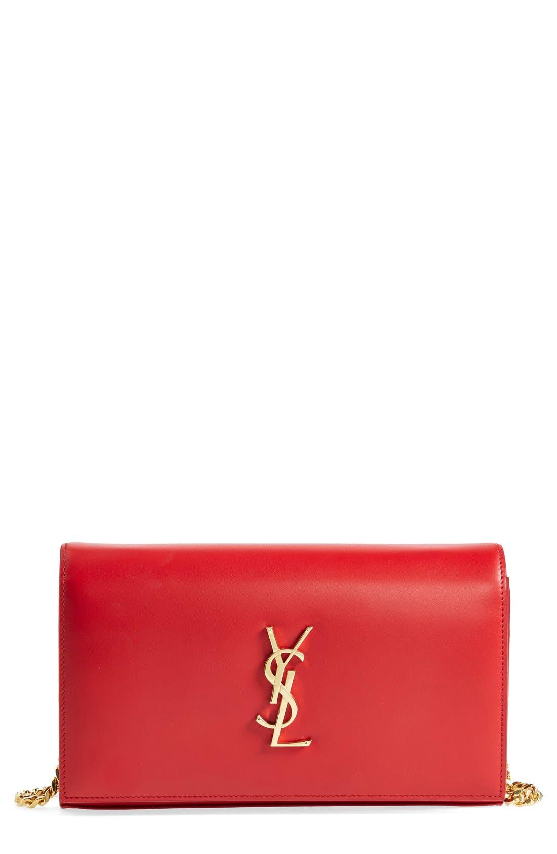 Main Image - Saint Laurent 'Monogram' Leather Wallet on a Chain