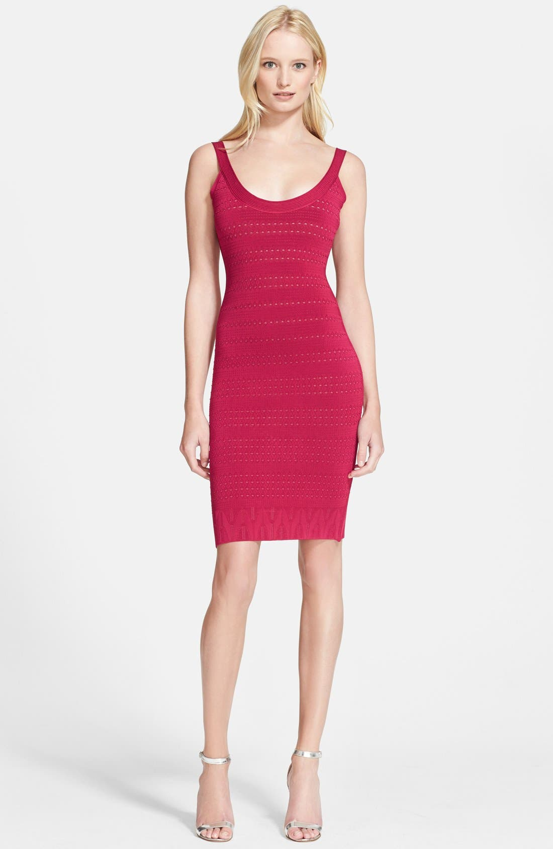 Main Image - Herve Leger Geo Lace Bandage Pencil Dress