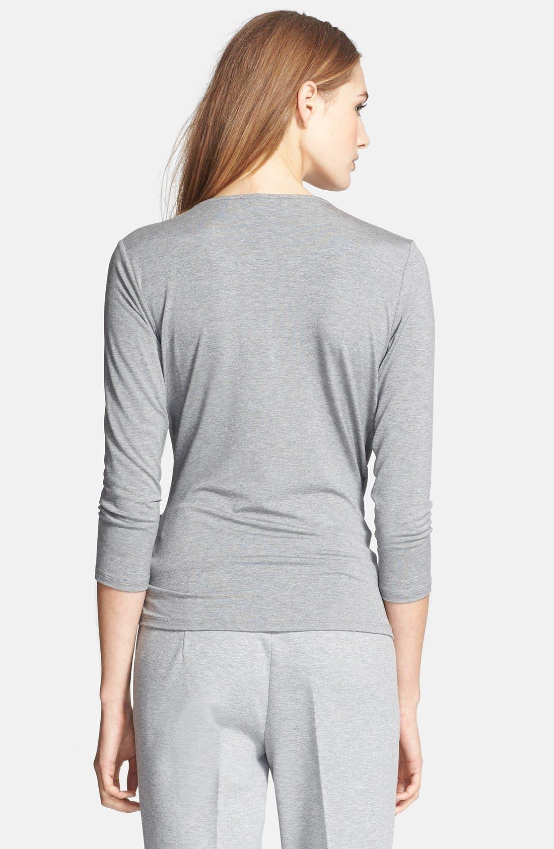 Alternate Image 2  - Max Mara 'Caprice' Faux Wrap Jersey Top