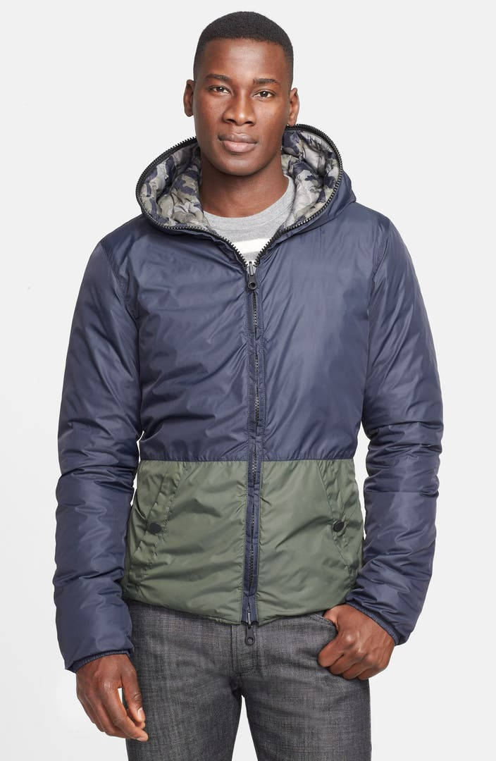 Duvetica Leo Erre Reversible Hooded Quilted Down Jacket